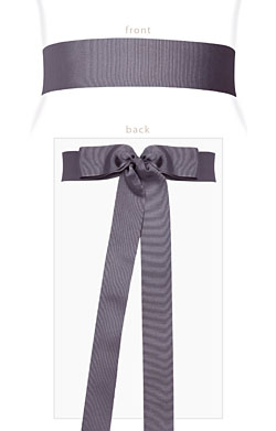 Grosgrain Ribbon Sash (Pewter)