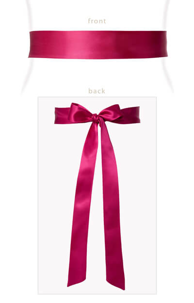 Smooth Satin Sash Slim Fuchsia Pink by Tiffany Rose