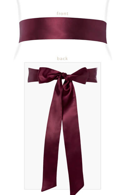 Smooth Satin Sash Slim Mulberry by Tiffany Rose