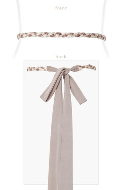 Plaited Ribbon Sash Gold by Tiffany Rose