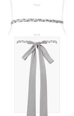 Plaited Ribbon Sash (Silver)