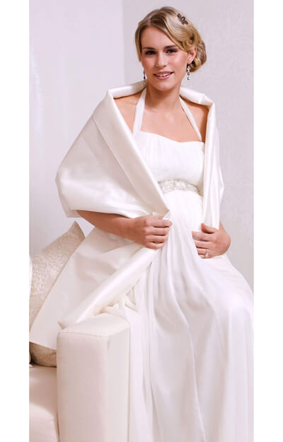 Silk Maternity Bridal Wrap by Tiffany Rose