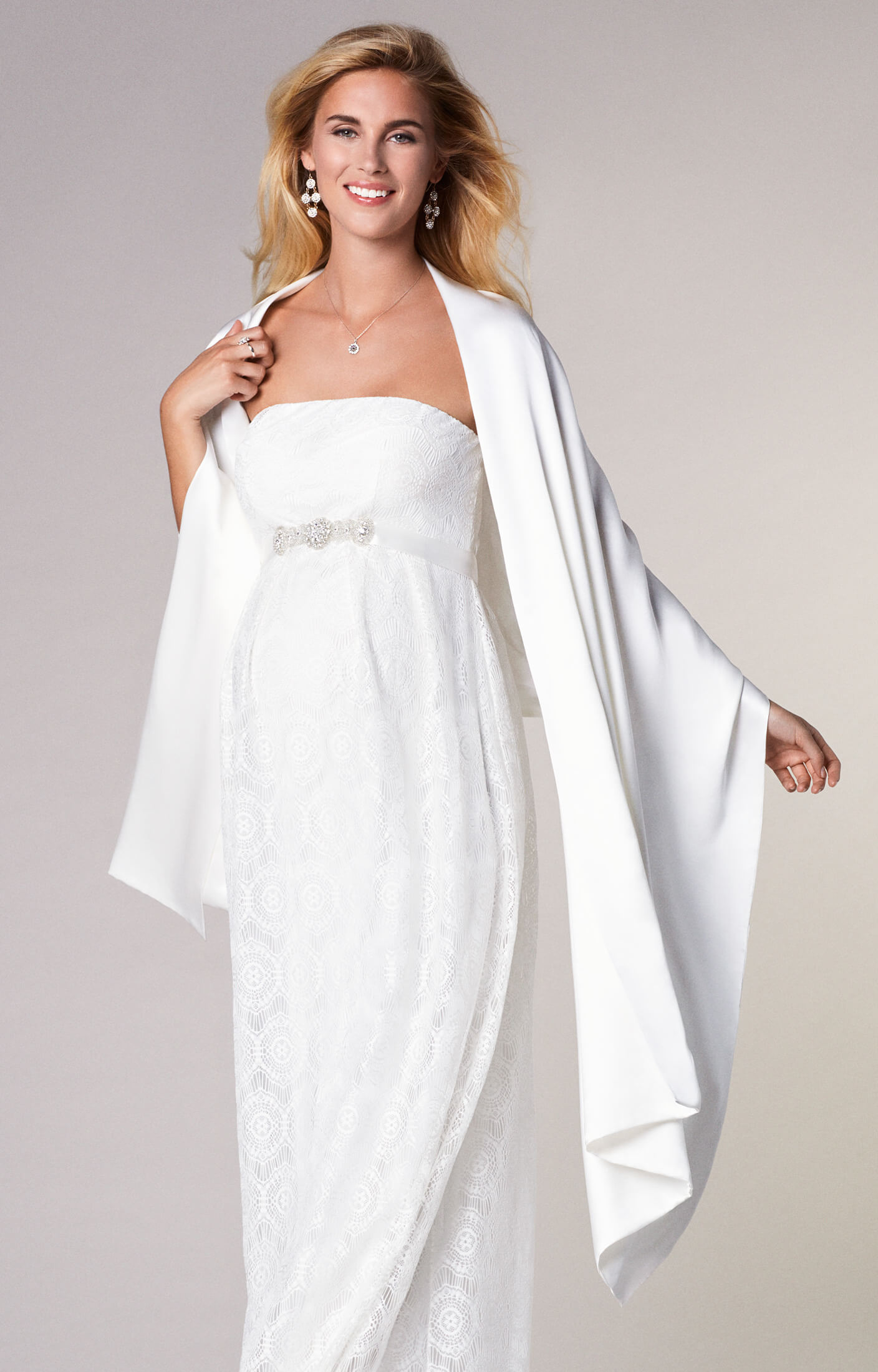Silk Maternity Bridal Wrap Ivory Maternity Wedding Dresses
