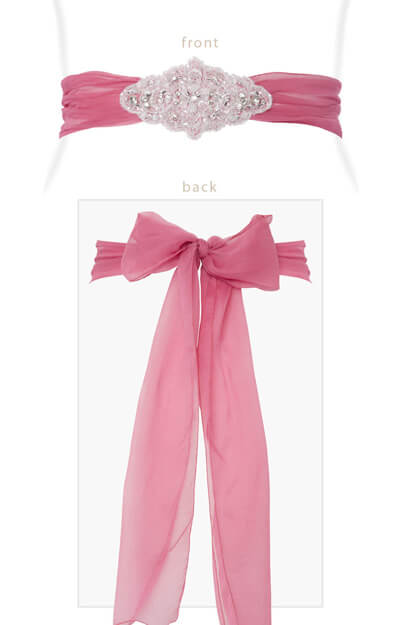 Silk Crystal Sash Confetti Pink by Tiffany Rose
