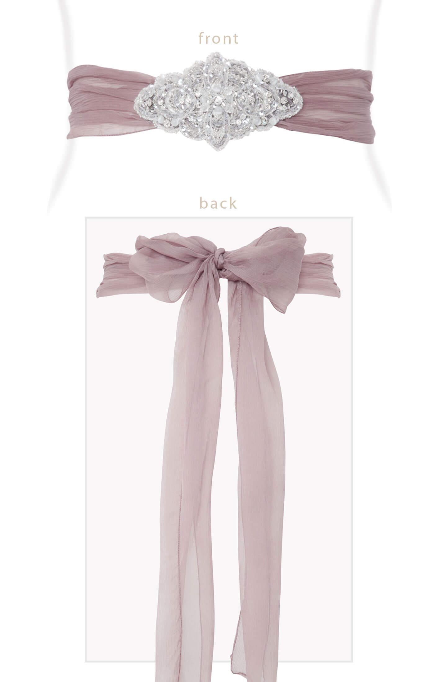 Silk Crystal Sash Dark Mauve Maternity Wedding Dresses Evening