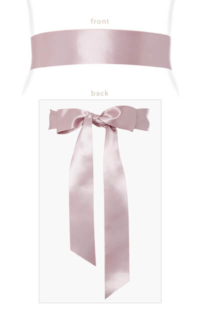 Smooth Ribbon Sash Dusk Pink by Tiffany Rose