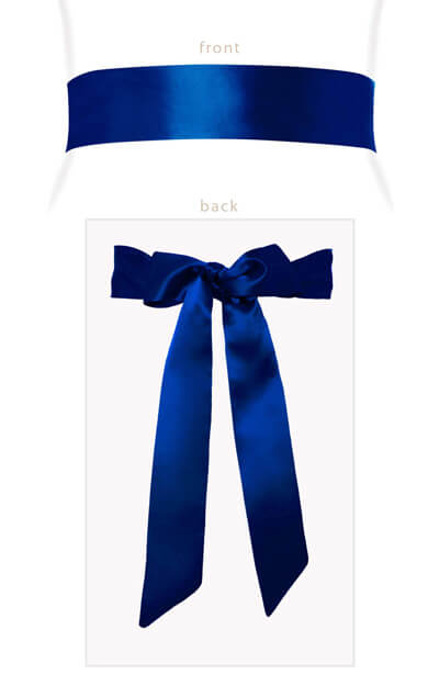 Smooth Ribbon Sash (Eclipse Blue) by Tiffany Rose