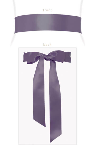 Smooth Ribbon Sash Lavender by Tiffany Rose