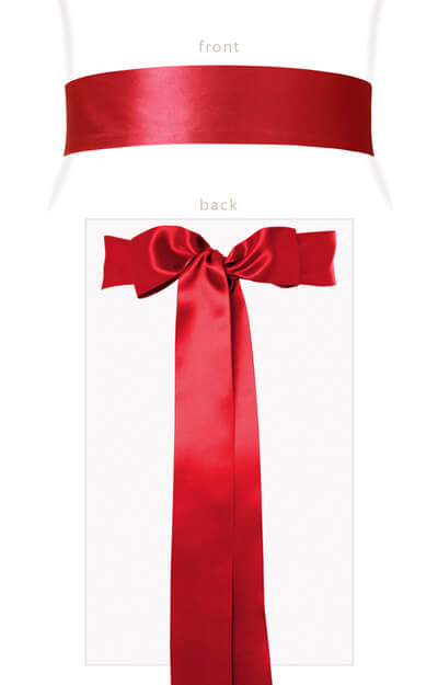 Smooth Ribbon Sash Sunset Red by Tiffany Rose