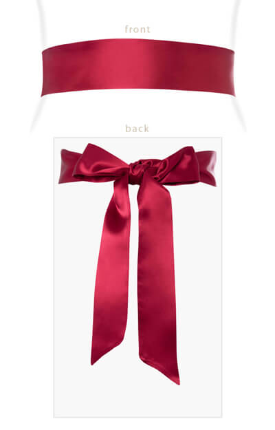 Smooth Satin Sash Deep Raspberry by Tiffany Rose