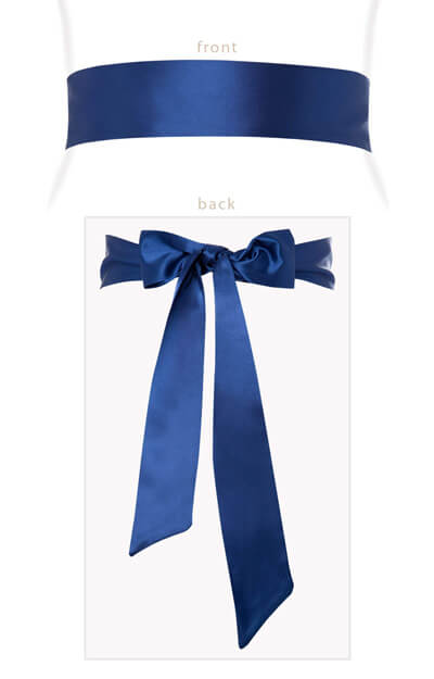 Smooth Satin Sash Long French Blue by Tiffany Rose