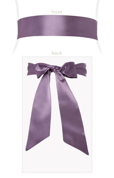Smooth Satin Sash Grape by Tiffany Rose