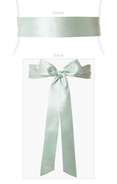 Smooth Satin Sash Glacier by Tiffany Rose
