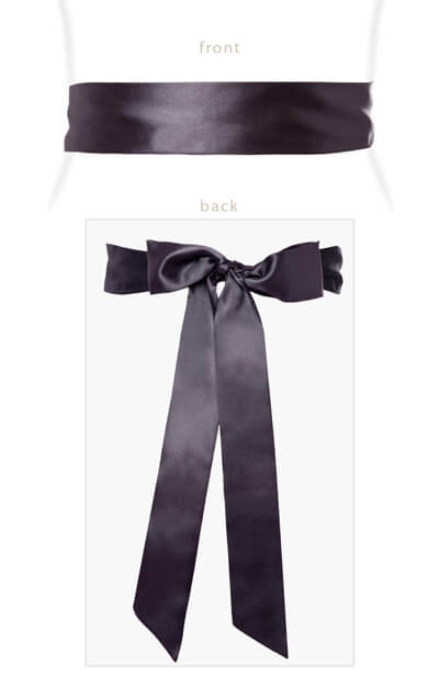 Smooth Satin Sash Graphite by Tiffany Rose