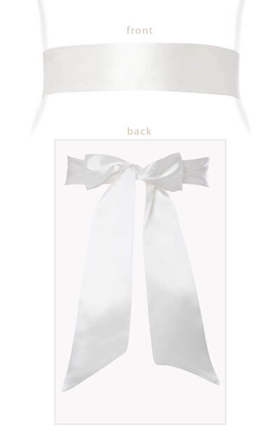 Smooth Satin Sash Ivory by Tiffany Rose