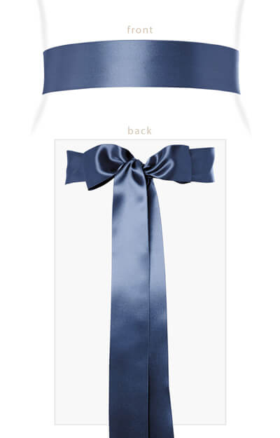Smooth Satin Sash Long Infinity Blue by Tiffany Rose