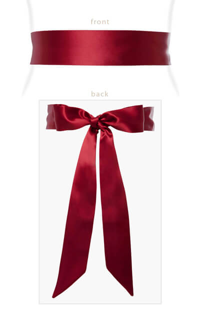 Smooth Satin Sash Rouge by Tiffany Rose