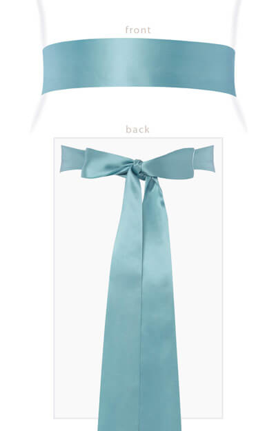 Smooth Satin Sash Long (Peppermint) by Tiffany Rose