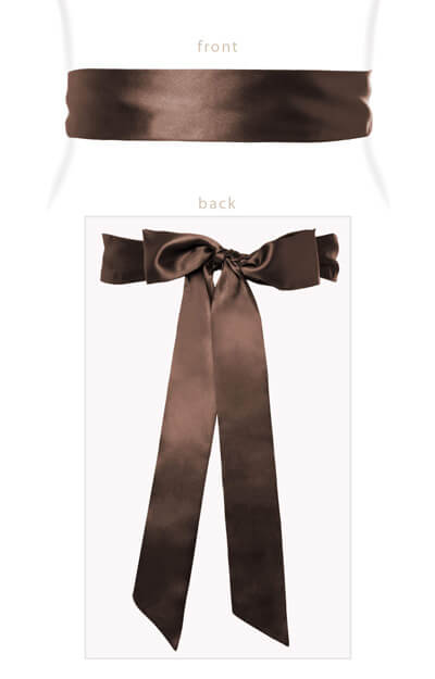 Smooth Satin Sash Pecan by Tiffany Rose