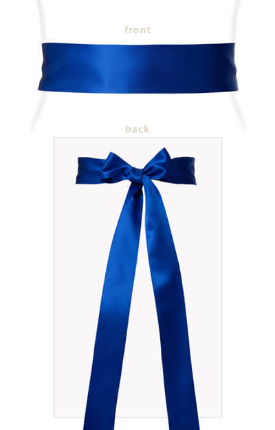 Smooth Satin Sash Royal Blue by Tiffany Rose