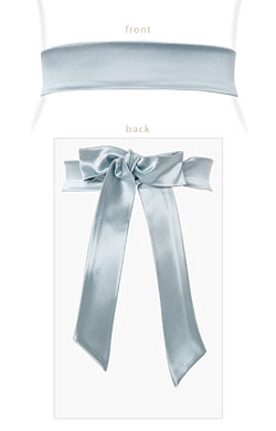 Stretch Satin Sash Glacier