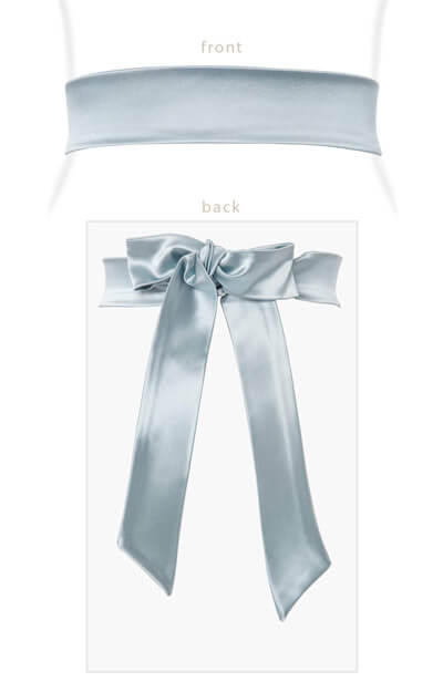 Stretch Satin Sash Glacier by Tiffany Rose