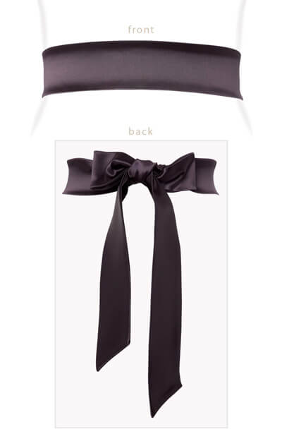 Stretch Satin Sash Plum by Tiffany Rose