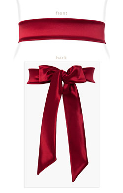 Stretch Satin Sash Scarlet