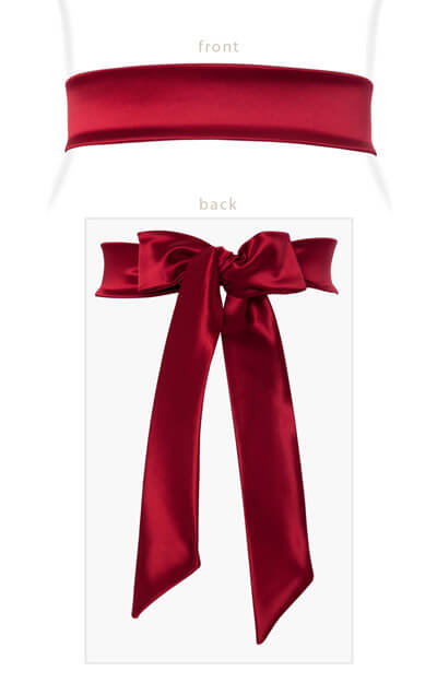 Stretch Satin Sash Scarlet by Tiffany Rose