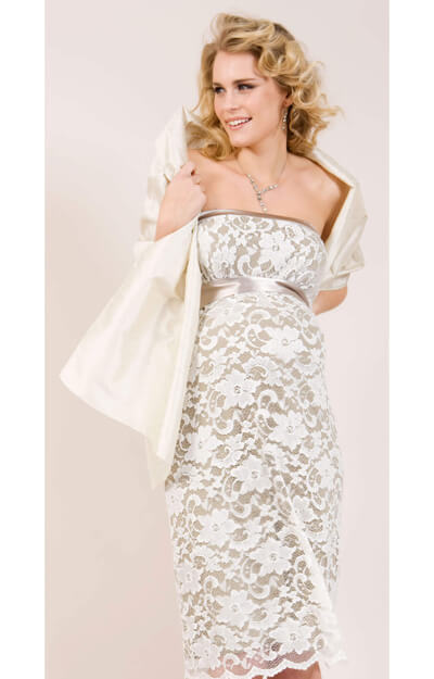 Silk Maternity Wrap (Vintage Cream) by Tiffany Rose