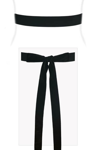 Velvet Ribbon Sash Black by Tiffany Rose