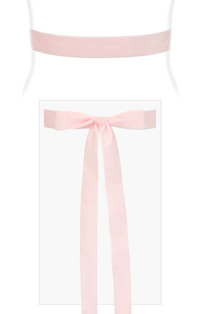 Velvet Ribbon Sash Baby Pink by Tiffany Rose