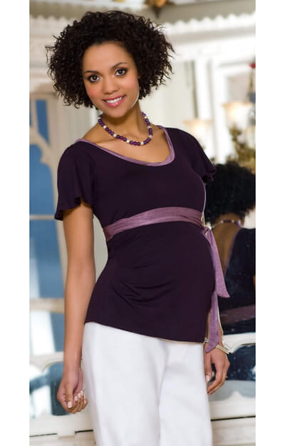 Ballerina Maternity Top (Purple) by Tiffany Rose