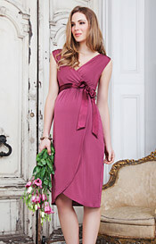 Bella Maternity Dress (Raspberry)