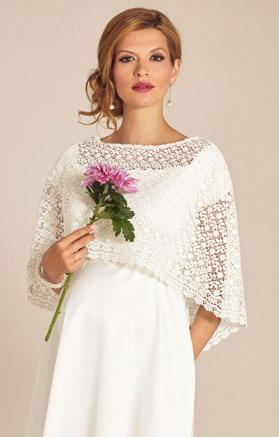 Boho Lace Wedding Capelet Ivory by Tiffany Rose