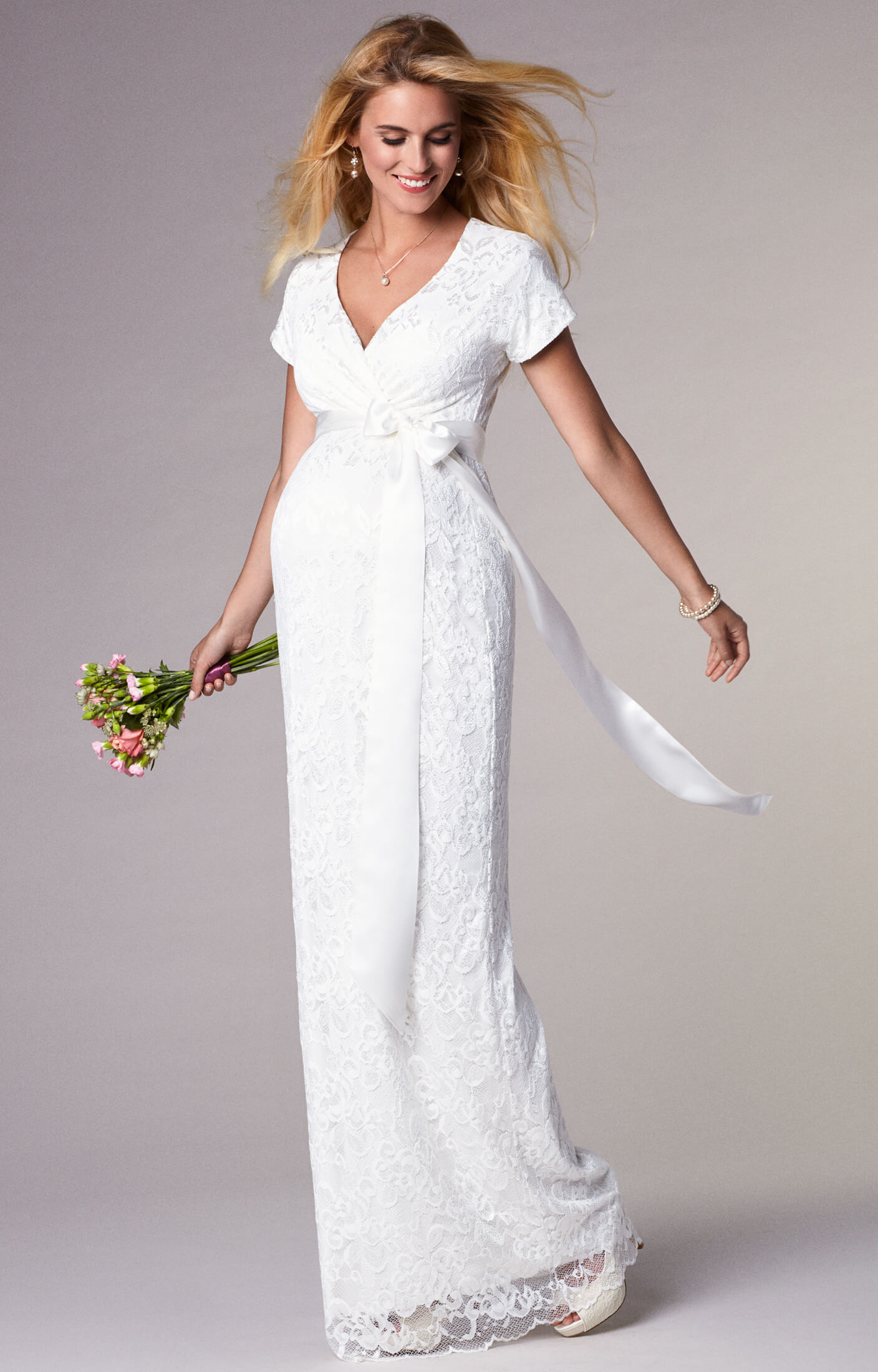 Bridget maternity wedding gown long ivory maternity wedding bridget maternity wedding gown long ivory by tiffany rose ombrellifo Gallery