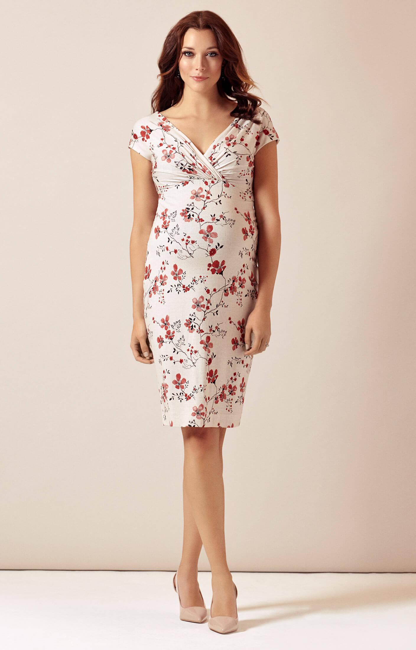 Bardot maternity shift dress cherry blossom red for Shift dress for a wedding