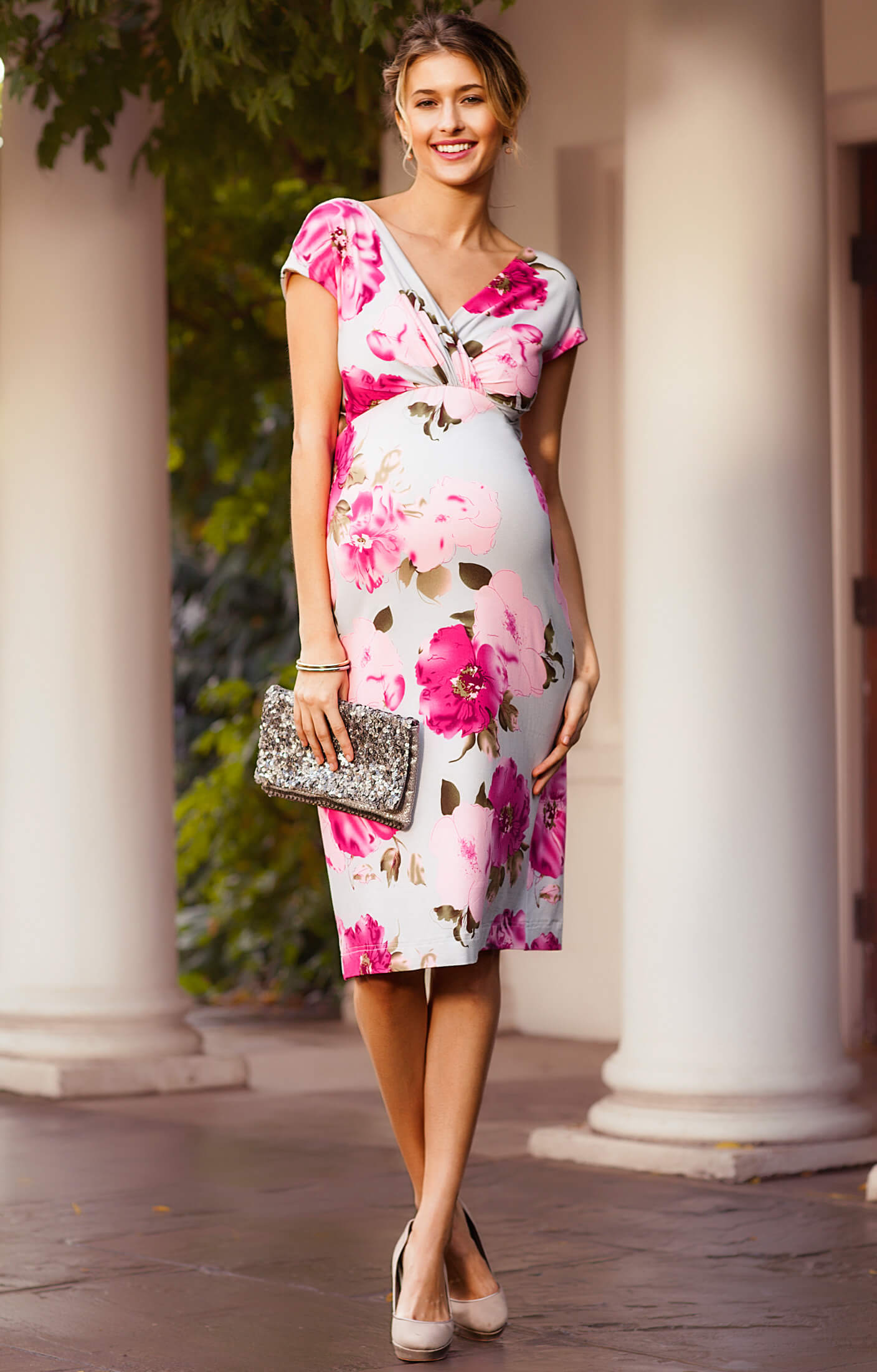 Bardot Maternity Shift Dress Grand Jardin Maternity
