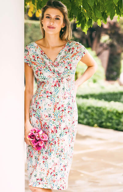 Bardot Maternity Shift Dress Petites Fleurs by Tiffany Rose