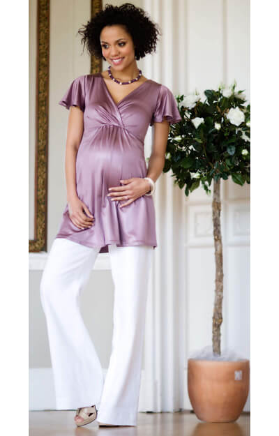 Butterfly Maternity Top (Dark Mauve) by Tiffany Rose