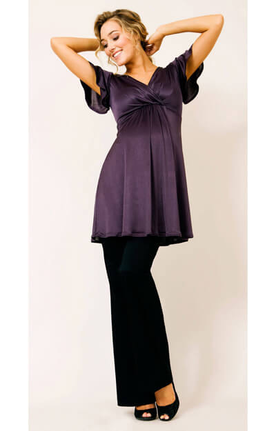 Butterfly Maternity Top (Plum) by Tiffany Rose