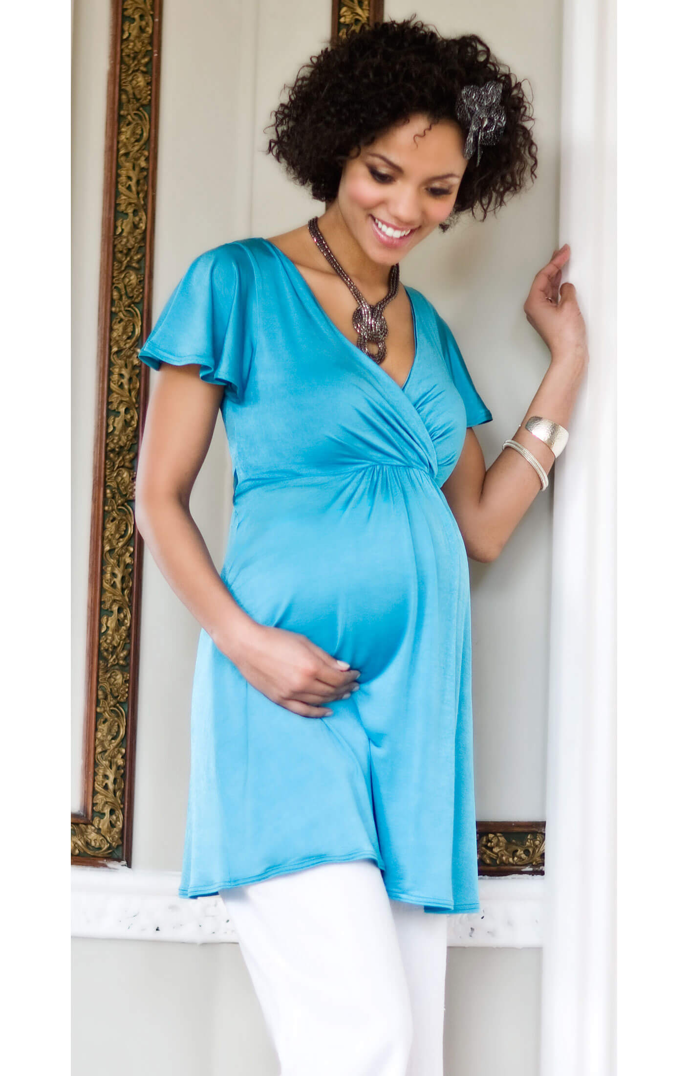 Butterfly Maternity Top (Sky Blue) - Maternity Wedding Dresses ...