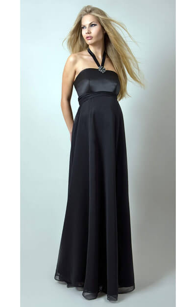 Black Tie Maternity Gown by Tiffany Rose