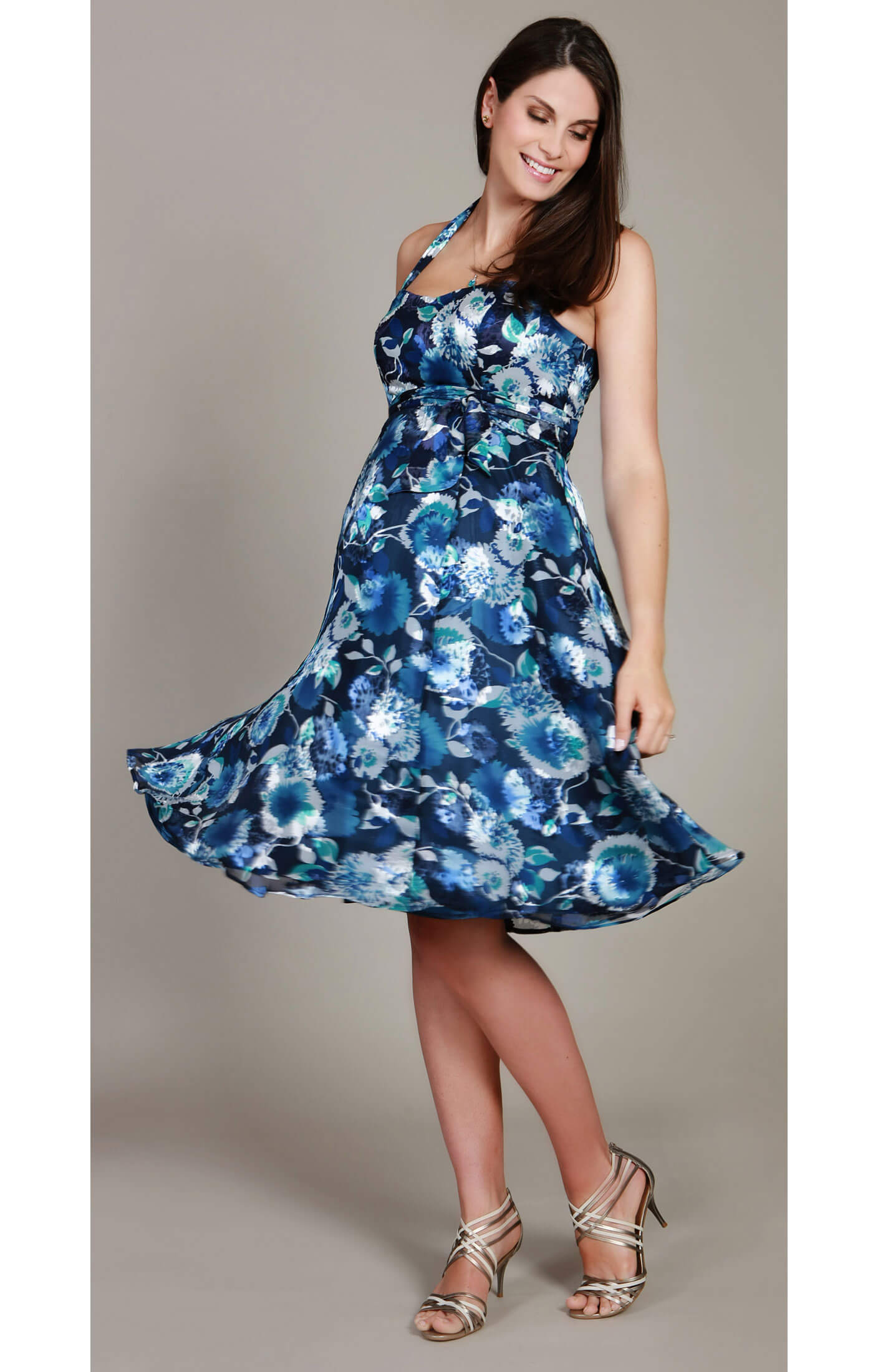 Calypso Blue Maternity Dress - Maternity Wedding Dresses, Evening ...