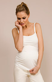 Maternity Jersey Camisole Top (Cream)