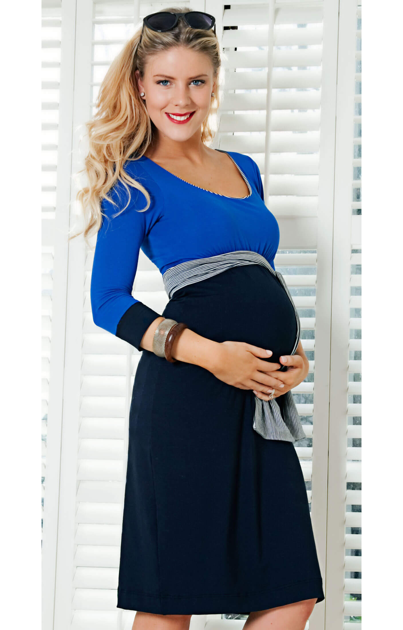 Colour Block Maternity Dress Cruise Maternity Wedding