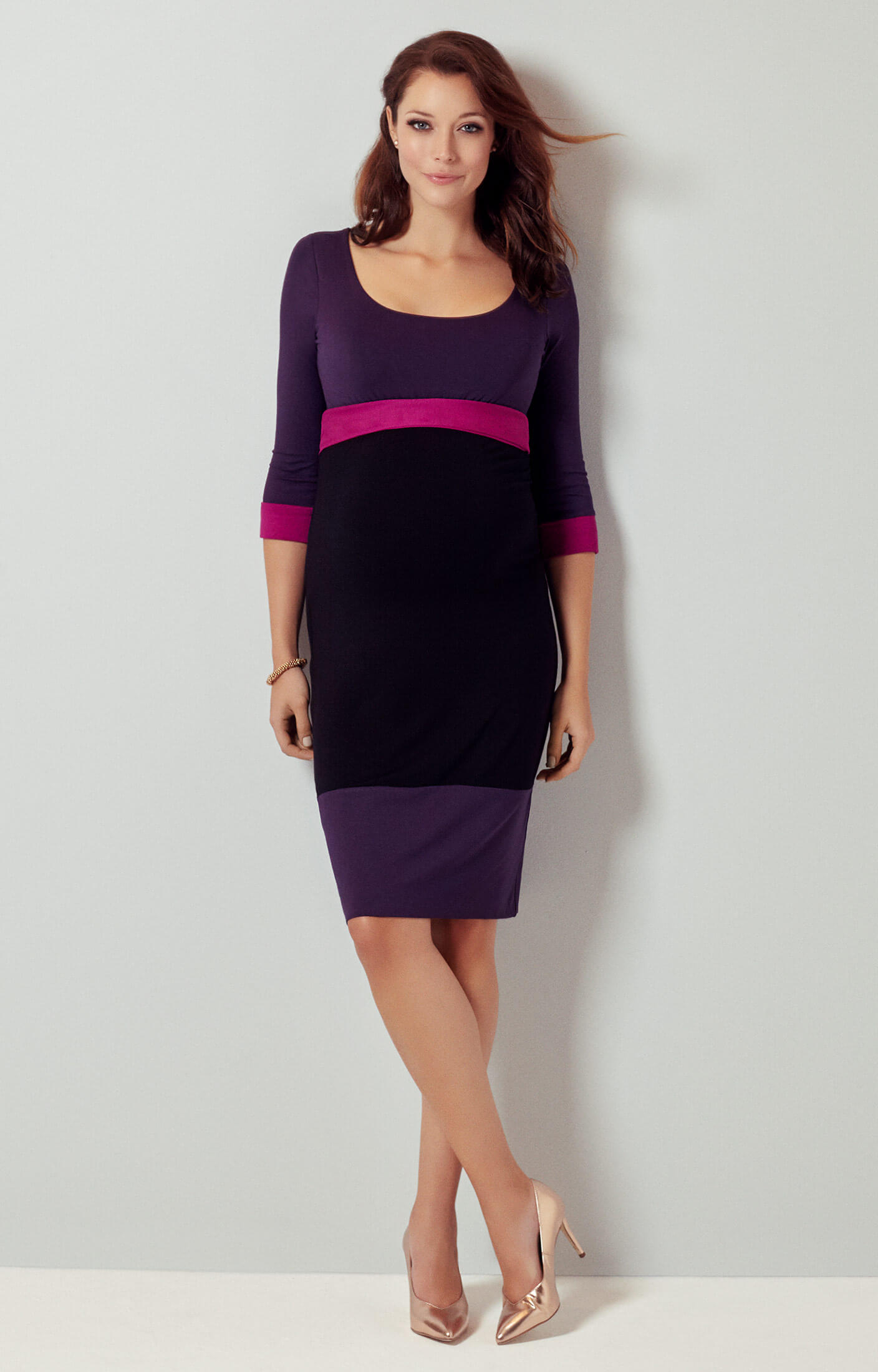 Colour block maternity dress purple maternity wedding dresses colour block maternity dress purple by tiffany rose ombrellifo Gallery