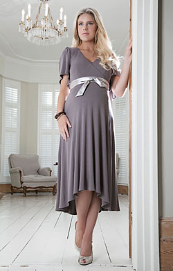 Cocoon Nursing Maternity Dress (Mink)