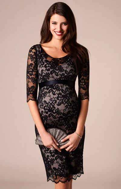 Charlotte Maternity Lace Dress Black by Tiffany Rose