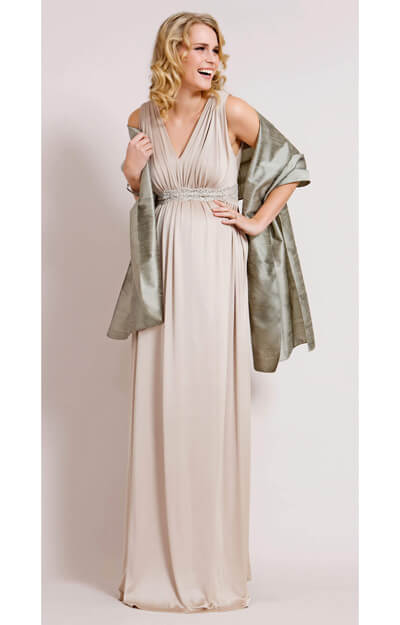 Champagne Maternity Gown (Long) by Tiffany Rose